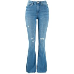 Denim Collection by YMI Juniors High Rise Frayed