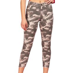 YMI Juniors Mid Rise Camo Ankle Jeans