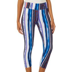 Eye Candy Juniors Mixed Stripe Capri Leggings