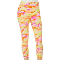 Eye Candy Juniors Bright Camo Print Capri Leggings