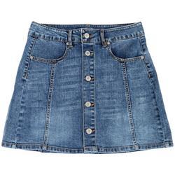 Love Tree Juniors Button Front Denim Skirt