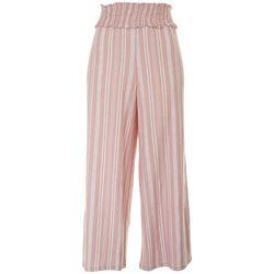 Derek Heart Striped Printed Loose Pants