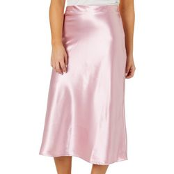 Hot Kiss Juniors Solid Midi Skirt