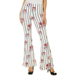 Hot Kiss Juniors Striped Floral Flare Pants