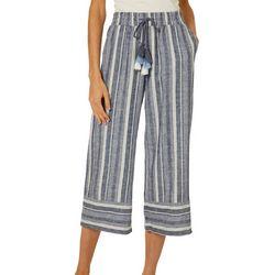 Harmony & Havoc Juniors Vertical Stripe Gaucho Pants