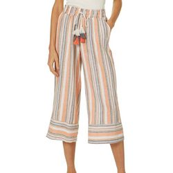 Harmony & Havoc Juniors Vertical Stripe Gaucho Pants
