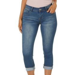 Hot Kiss Juniors Get The Lift Cropped Denim Jeans