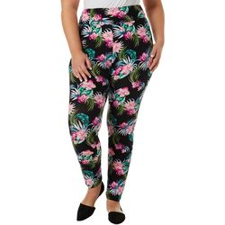 Juniors Palm Floral Print Leggings