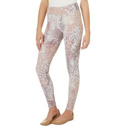 Juniors Colorful Snakeskin Print Leggings