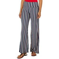 Hot Kiss Juniors Striped Pull On Pants