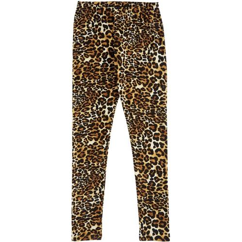 For the fun, free-spirited trendsetter 1st Kiss offers a trendy style in these leggings featuring leopard print & a banded elastic waistband.