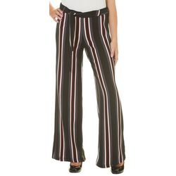 Hot Kiss Juniors Belted Striped Pull On Pants