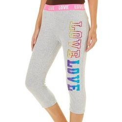 Hot Kiss Juniors Embellished Love Capri Leggings