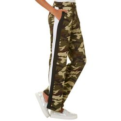 Hot Kiss Juniors Camo Athletic Striped Pull On Pants