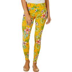 Hot Kiss Juniors Feminine Tropical Floral Print Leggings