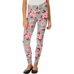 Hot Kiss Juniors Dotted Floral Print Leggings