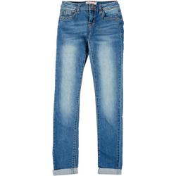 Juniors Get The Lift Denim Roll Up Skinny Jeans