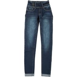 Juniors Button Fly Skinny Jeans