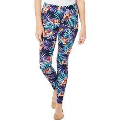 Hot Kiss Juniors Tropical Floral Print Leggings