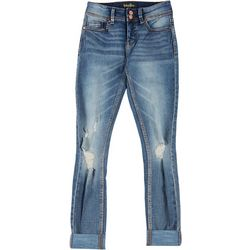 Indigo Rein Juniors Sustain Mid Rise Distressed Jeans