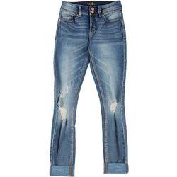 Indigo Rein Juniors Sustain Mid Rise Distressed Jeans