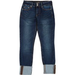 Indigo Rein Juniors Mid Rise Ankle Cuffed Jeans