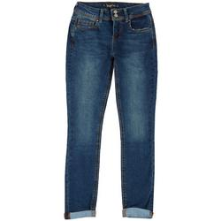 Juniors Cuffed Skinny Jeans