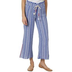 Indigo Rein Juniors Linen Striped Side Slit Pants