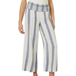 Indigo Rein Juniors Mixed Striped Linen Ankle Pants