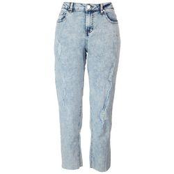 Indigo Rein Juniors Kehlani Distressed Straight Jeans