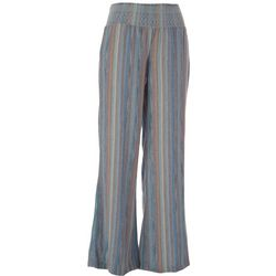 Indigo Rein Juniors Blue Multi Vertical Stripes Pants