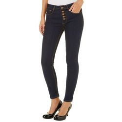 Indigo Rein Juniors Button Fly Denim Skinny Jeans