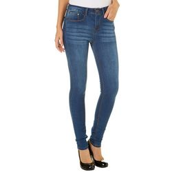 Indigo Rein Juniors Whiskered High Rise Skinny Jeans