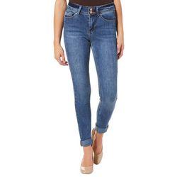 Indigo Rein Juniors Faded Roll Cuff Denim Jeans
