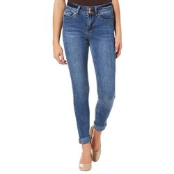 Indigo Rein Juniors Faded Roll Cuff Denim Jeans