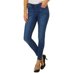Indigo Rein Juniors Mid Rise Muffin Topper Skinny Jeans
