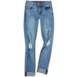 Indigo Rein Juniors Distressed Cuffed Jeans