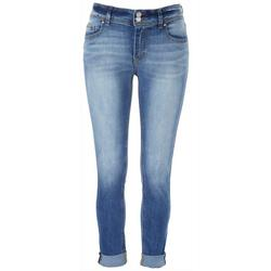 Juniors Dual Button Closure Washed Jeans