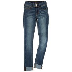 Indigo Rein Juniors Double Button Faded Jeans