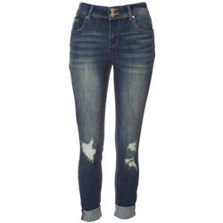 Juniors Dual Button Waist Closure Jeans