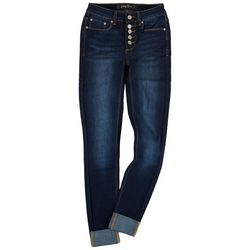 Indigo Rein Juniors Rolled Hem High-rise Jeans