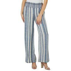 Indigo Rein Juniors Linen Striped Beach Pants