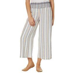 Indigo Rein Juniors Stripe Smocked Waist Gaucho Pants