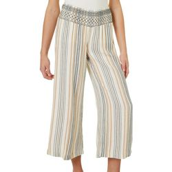 Indigo Rein Juniors Vertical Stripe Linen Ankle Pants