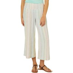 Indigo Rein Juniors Striped Linen Ankle Pull On Pants