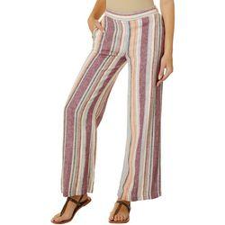 Indigo Rein Juniors Linen Striped Wide Leg Pants