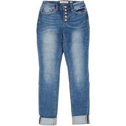 Indigo Rein Juniors Skinny Cuffed 5-Button Jeans