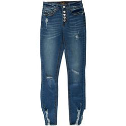 Indigo Rein Juniors Skinny Cuffed 5-Button Jeans