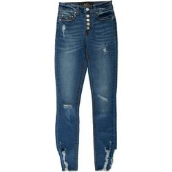 Juniors Skinny Cuffed 5-Button Jeans