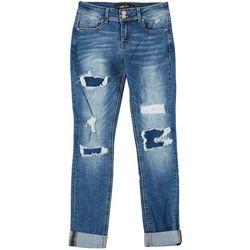 Indigo Rein Juniors Repreve Cuffed Skinny Jeans